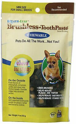 Ark Naturals For Pets Breath-Less Chewable Brushless Toothpaste 4-Oz (Pack of 3)