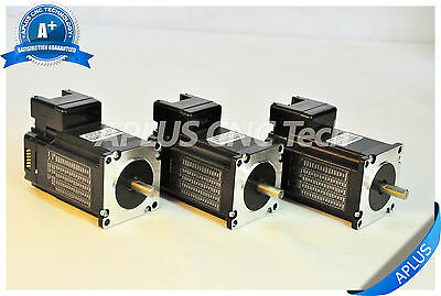 3 PCS NEMA 23 Integrated Stepper Motor, 255oz-in 76mm 3.0A, All in One