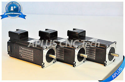 3 PCS NEMA 23 Integrated Stepper Motor, 396oz-in 112mm 4.2A, All in One