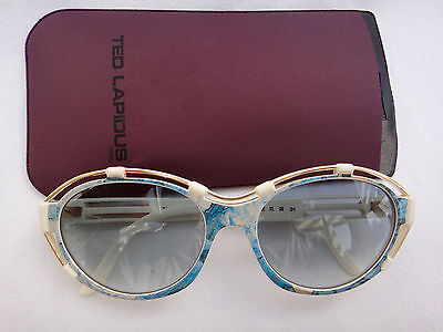 fb60c607f5 Vintage New Ted Lapidus Tl 2504 Ivory 1970'S Sunglasses Made In France