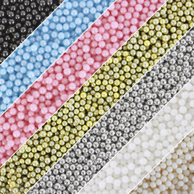 4mm Sugar Pearl Ball Sprinkles - 30g Bag- Cupcake & Cake Decorations - 7 Colours