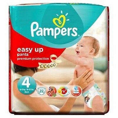 PAMPERS Easy Up Taille 4( 8-15 kg ) x22 couches