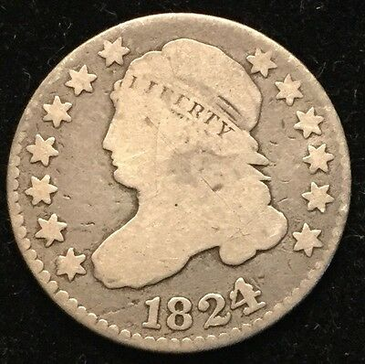1824 10C Capped Bust Dime