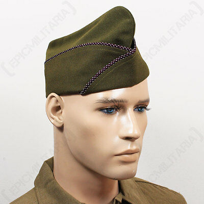 WW2 US ISSUE TYPE GARRISON CAP - MEDICAL - Repro Military Army USA American Hat