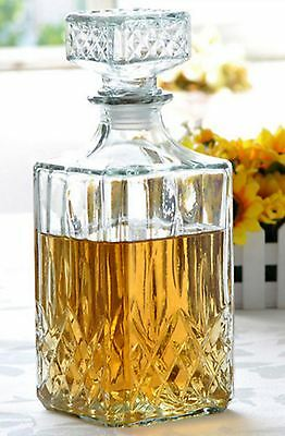 Lovely Whisky Glass Decanter 900ml Sherry Wine Water Juice Decanter