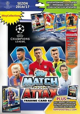 MEGA STARTER Topps Champions League 2016 2017 (Binder, 6 x cards, Limited Messi)