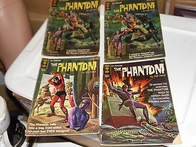 The Phantom lot of 4 books #3 x2 #9 and #15 Gold Key 1963