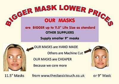 Personalised Custom Face Mask KIT - 1 to 10, Low Cost  Custom Stag Party Kits