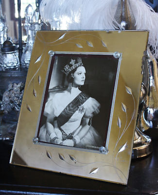1920s Etched Mirrored Frame Gorgeous & Large SO CHIC
