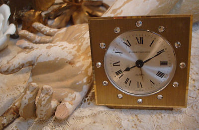 Antique Jeweled Rhinestone Alarm Clock Phinney Walker