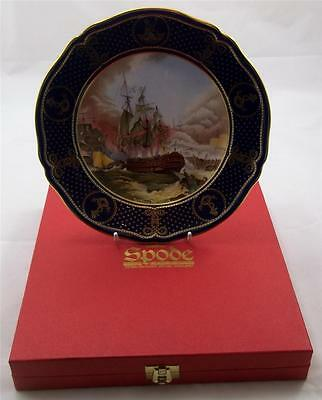 Spode - The Maritime England Plates - Battle of Camperdown 1797 No 5 BOXED Naval