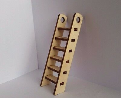 1 x Laser Cut Fairy Pixie Elf  Door Stairs 3mm Plywood Craft Ladder Dolls House