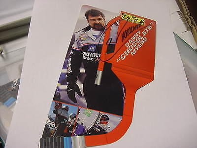 """Danny """"Chocolate"""" Myers Goodwrench /Mechanix Wear postcard autographed"""
