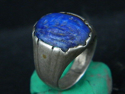 Antique Silver Ring With Glass Post Medieval 1800 AD       #STC567