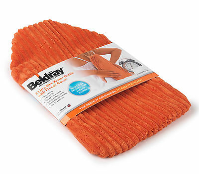 Beldray LA028839 2 Litre Hot Water Bottle with Fleece Cover NEW HIGH QUALITY