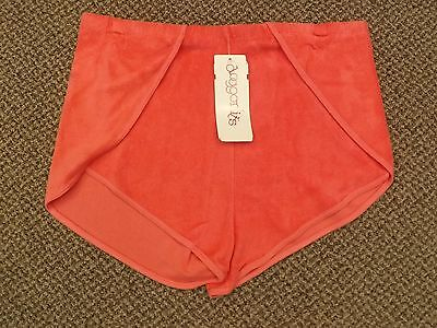 NOS Vtg 1970s SALMON PINK Vented Sides TERRY CLOTH SHORTS XL Sporty Athletic NEW