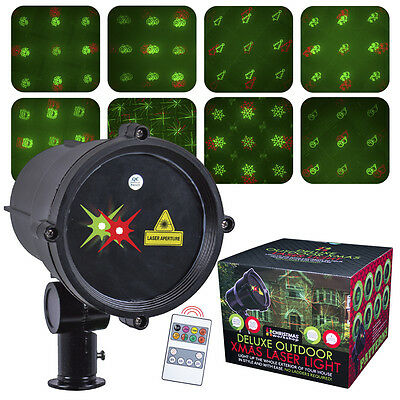 Christmas Workshop  Deluxe Outdoor Xmas Laser With 8 Rotating Patterns -46830