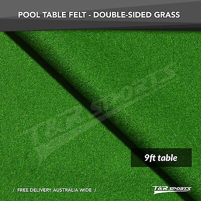 Grass Green Billiards Pool Double-sided Wool Table Top Cloth Felt for 9''