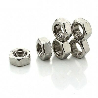 """10#, 1/4"""", 5/16"""", 3/8"""", 7/16"""", 1/2"""" UNC/BSW Hex Full Nuts 201 Stainless Steel"""