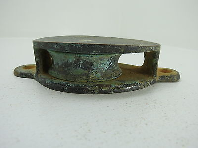 2 Inch Bronze Deck Pulley Block Boat Ship Brass Tackle (#187)