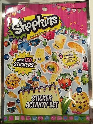 150 SHOPKINS Stickers Activity set Great stocking stuffer gift