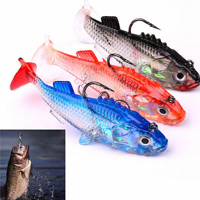 Soft Lures Worm Bass Trout Fishing Baits Soft Lures Crank Swim Bait Silicone
