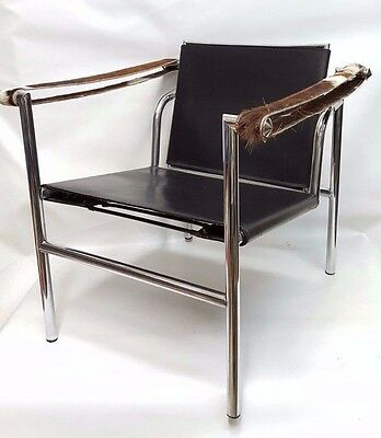 rare le corbusier jeanneret perriand lc1 armchair - chair
