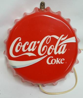 rara piccola insegna bottone tappo coca cola plexiglass 1960 - sign advertising