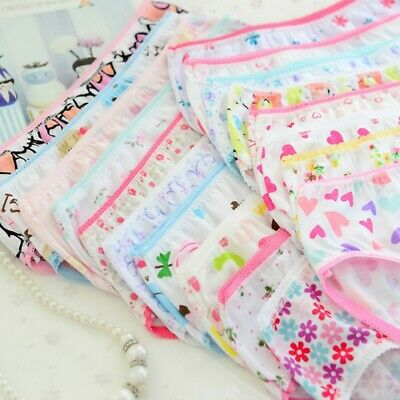 6pcs Baby Kids Girls Underpants Soft Cotton Panties Child Underwear Short Briefs