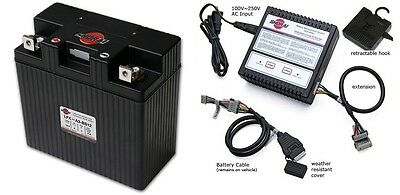 Shorai Lithium Motorcycle Battery LFX36A3-BS12 + Charger SHO-BMS01 Combo Package
