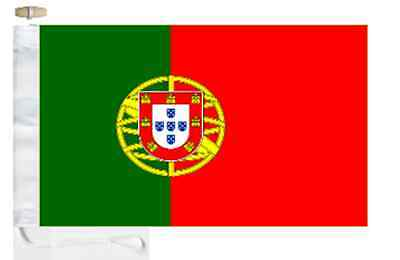 Portugal Courtesy Boat Flag Roped & Toggled