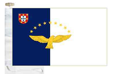 Portugal Azores Courtesy Boat Flag Roped & Toggled