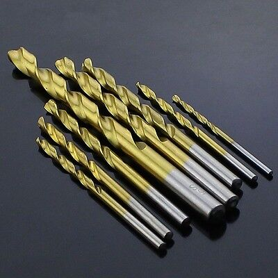 HSS Titanium Plated Twist Drill Metal Straight Shank Drill Stainless 5.8mm-8.5mm