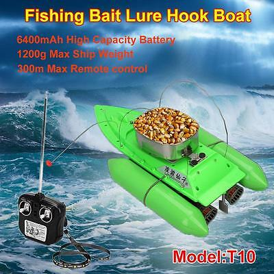 Updated T10 Bait Boat Carp Fishing RC Boilies Runtime 5 Hours Anti Grass Wind
