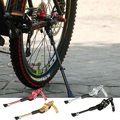 Bike MTB Bicycle Cycling Adjustable Rear Side Kickstand Prop Rubber Foot Alloy
