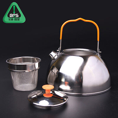 0.6L/1.1L Outdoor Hiking Camp Picnic Cookware Mini Stainless Steel Kettle Teapot