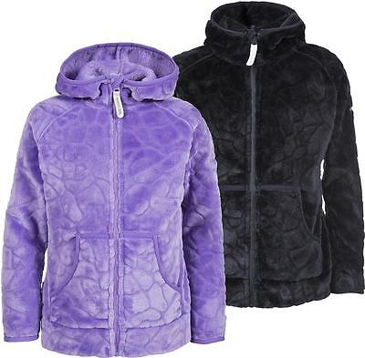 Trespass Flik Girls Cosy Fleece Hooded Jacket