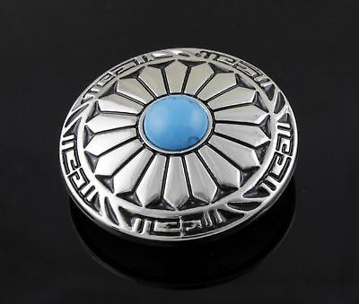 3PCS Screw Eye Western Turquoise Round Concho Button Leathercraft Accessories