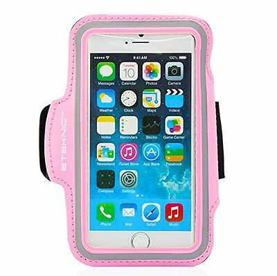 Pink iPhone 5 / 5s / 5c / SE Running Armband For Sports Jogging Exercise eTEKNIC