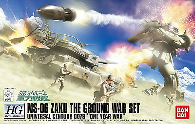 HGUC MS-06 ZAKU THE GROUND WAR SET 1/144 Gunpla Pvc Bandai High Grade