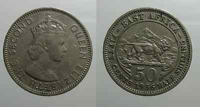ESt Africa  East Africa 50 Cents 1956 H    D02/16