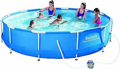 Bestway 12 ft x 30-Inch Steel Pro Frame Pool Set with Flow Clear Filter Pump