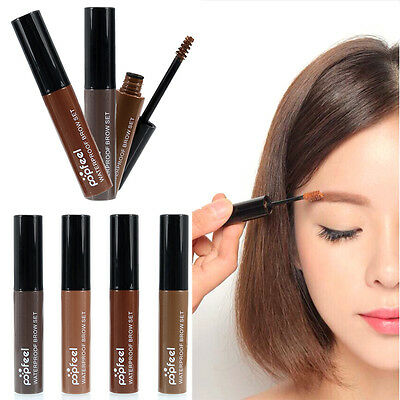 4 Colores impermeable Lápices delineadores cejas Tinte Gel Eyebrow Maquillaje