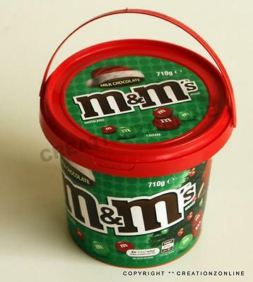 M&m's Christmas Chocolate Bulk Party Bucket 710 Gms M&m Candy Sweets Favors Xmas