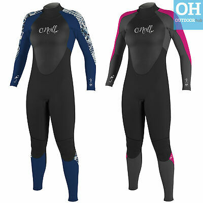 O'Neill 4/3mm Womens Epic Full Winter Wetsuit Blindstitch Ladies Steamer Surf