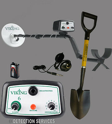 "Viking 6 metal detector Non-Motion eliminating metal 8"" DD"