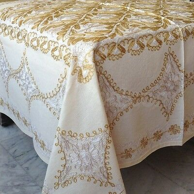 ِِِDamascus Aghabani Aloorgenda and Cotton Table Cloth غطاء طاولة أغباني