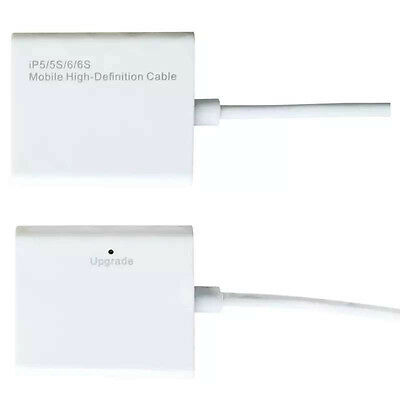 Dock to HDMI HDTV TV Cable Adapter 1080p for iPhone 7 7PLUS 5S 6 6S 6PLUS Ipad