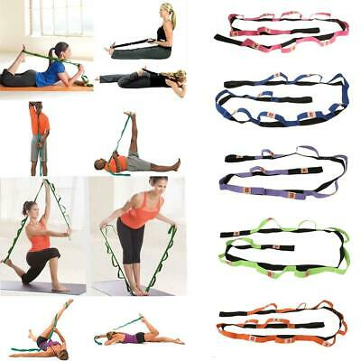 Waist Leg Fitness Exercise Belt Yoga Stretch Strap Training Equipment 5ft/6ft