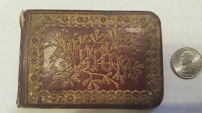 Antique Small Remeberance ALBUM with 1880s Dates Writings & Stamps